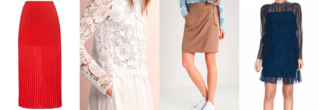 Knielange Röcke und Kleider: Mode für kräftige Beine.