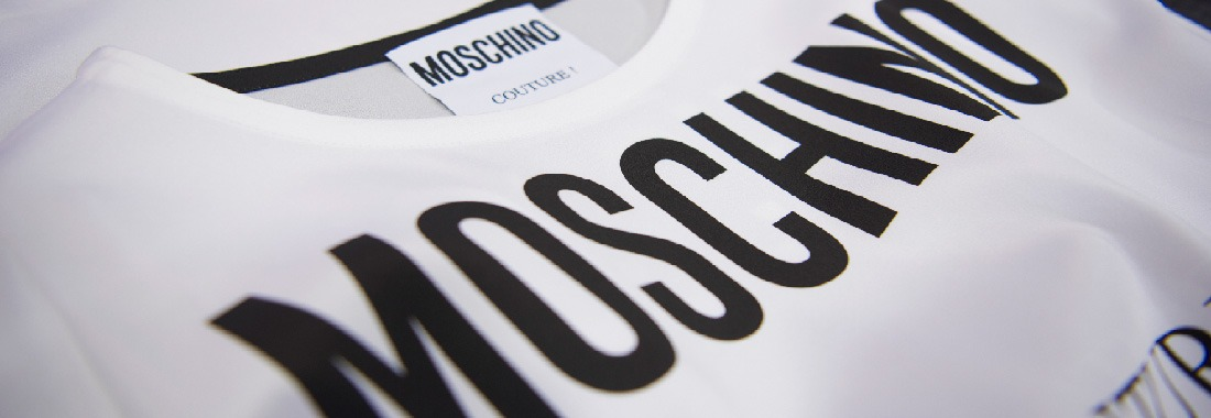 Schwarz-weisses Kleid von Moschino Couture